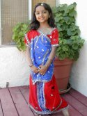 Pre-Pleated Readymade Sarees for Kids
