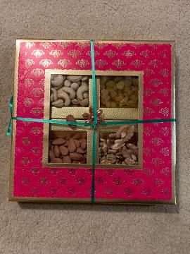 Large diwali gift box w/ dry fruits