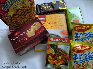Taste of India - Sample Snack Pack