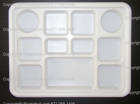 Disposable 11 Compartment Plastic Plates - 100 Rectangle Thali | DesiClik.com USA & Disposable 11 Compartment Plastic Plates - 100 Rectangle Thali ...