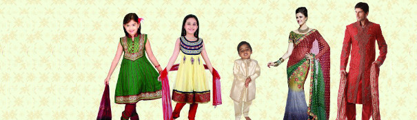 Indian Ethnic Wear for Women, Men & Kids