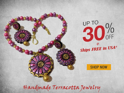 Handmade Terracotta Jewellery on Sale & Free Shipping