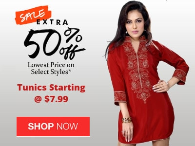 Stylish Kurtis & Tunics @ Extra 50% Off