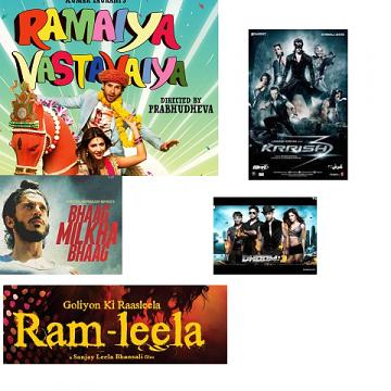 Latest 2013 / 2014 Hindi Movies Songs, 5 Audio CD Gift Pack