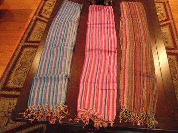 Stoles / Scarf. Pink, Blue or Brown Striped Stole