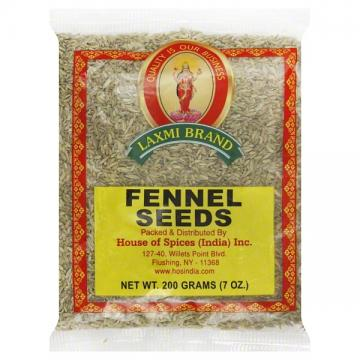 Laxmi Fennel Seeds (Saunf) 7oz (3 Pack)