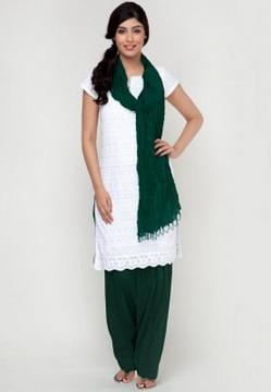 Patiala Pants, Simple Bottle Green Patiala Style Pants