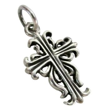 Antique Finish Fine Sterling Silver Cross Pendant