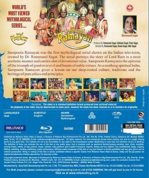 Sampoorana Ramayan Tv serial Bluray DVD (Complete Set)