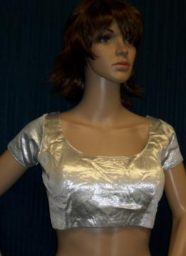 Saree Blouse in Silver Brocade (S M L XL)