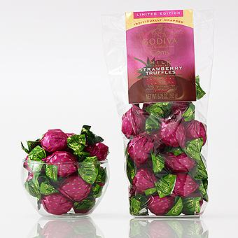 18 pc. Godiva Gems Milk Chocolate Strawberry Truffles