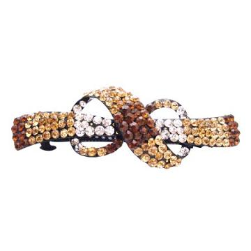 Stylish Illusory 8 Shaped Bow Barrette In Smoked Topaz