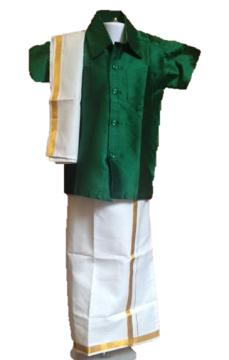 South Indian Dhoti/Veshti with Angavastharam for 4 Yr Boys
