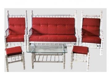 Traditional Design Sankheda Sofa Set (6 pcs)