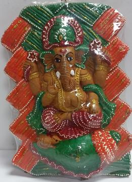 Wall Hanging Clay Lord Ganesha Idol 12'' to 15''
