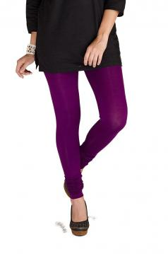 Purple Colored Soft Leggings for Kurti / Kameez - M