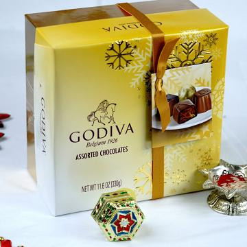 Beautiful Bhaidooj Tikka w/ Godiva Assorted Chocolates