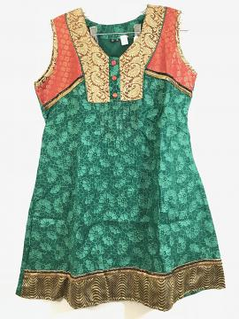 Gorgeous Green Party Wear Kurti Tunic for Women - S/M