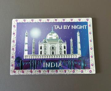 "Taj By Night Magnet - Home Decor 3"" X 2"""