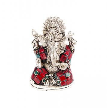 Exclusive Silver Finish Brass Ganesh Statue 2.5""