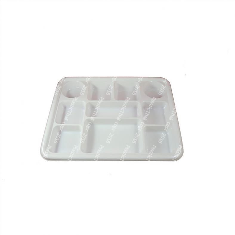 Disposable Plastic Thali w/ 10 Compartments - 100 Plates  sc 1 st  DesiClik.com & 10 Compartment Plastic Plates / Thali - 100 Disposable Plates | Bulk ...