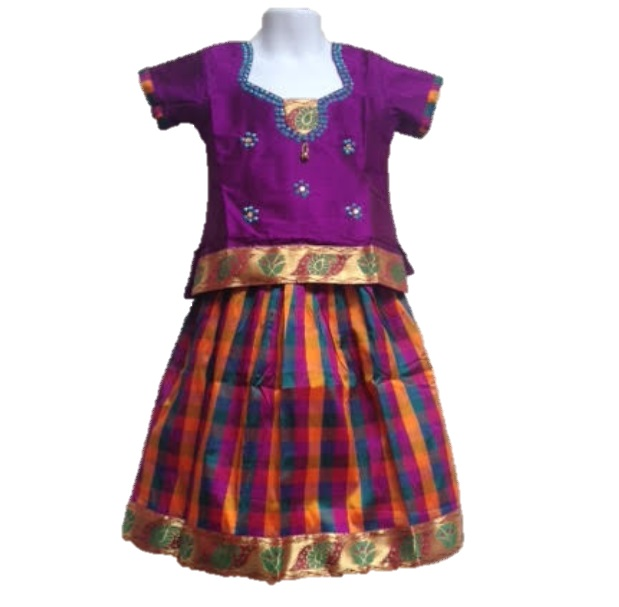 6b8c5ddef1ea84 Pattu Langa fro 2-3 years old girl with 50% off on sale  26397