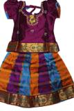 South Indian Pattu Pavada Set for 7 to 8 yr Girls