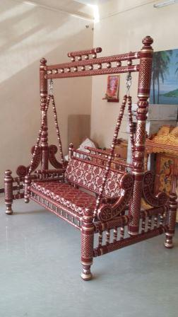 Indian Style Wooden Jhoola For Sale Sankheda Indoor Swing Jhula