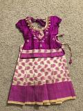 Traditional Purple Pattu Langa Dress for Baby Girls 1 & 2 Yr Old