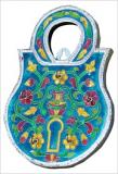 Meenakari Lock Shape Key Holder Wall Decor