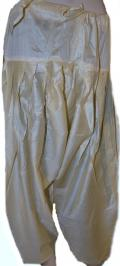 Cotton Silk Patiala Pants in Golden Cream Color