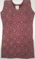 Beautiful Beadwork Red Sleeveless Cotton Top