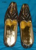 Copper Gold Handmade Wedding Khussa Shoes / Mojri for Men