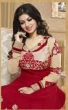 "Red Anarkali Dress \w Intricate Embroidery Work (M 40"")"