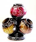 Artistic Handcrafted 4-tier Clay Matka Decor /w Tribal Art