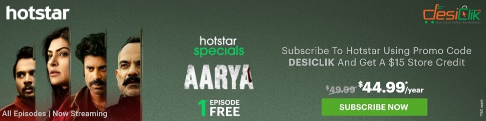 Get $20 in Discount & Credits when you signup for hotstar