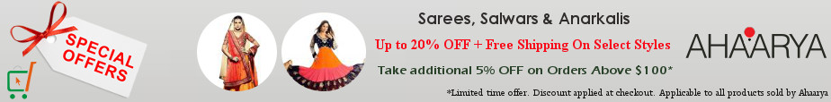 Sarees, Salwar Kameez & Anarkali Suits from Ahaarya