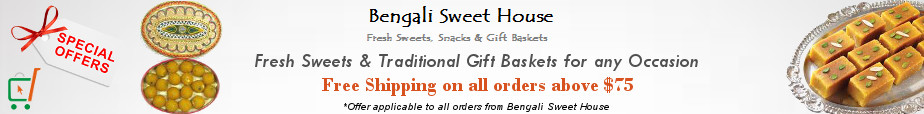 Quality Indian Sweets, Snacks & Gift Baskets Shop - Free Shipping on Order Above $75