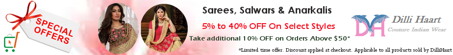 Sale on Sarees, Palazzo Suits, Salwar Kameez & Jackets from DilliHaart
