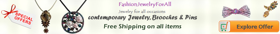 Contemporary Bridal Jewelry, Brooches, Pins & Clips