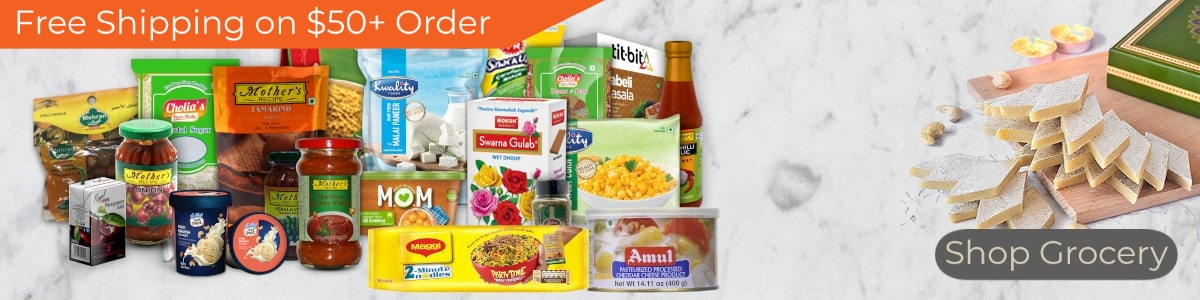 Indian Grocery - Free Shipping on $50+ Order