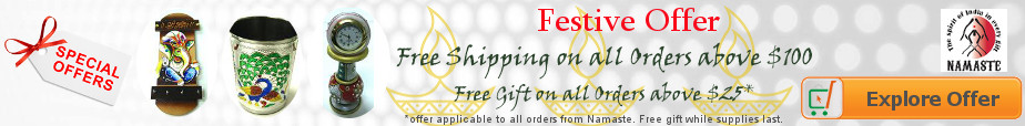 Buy Indian Handicrafts and Traditional Gifts from Namaste and get FREE Gift