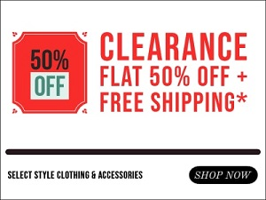 Extra 50% Off on Select Items